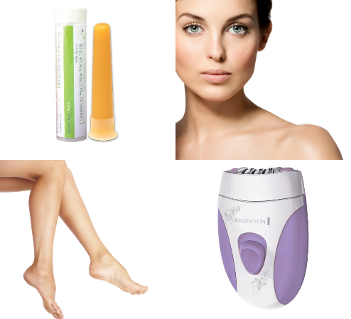On The Go Hair Removal Holiday Gift Set (includes: Remington Curve Epilator & Natural Way Wax Stick)