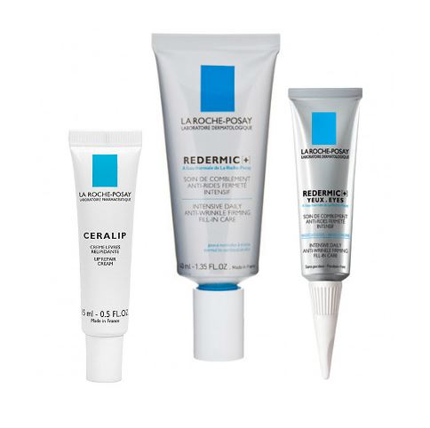 La Roche Posay Full Facial Kit (Includes: Lip Repair Cream, Anti-Wrinkle Filler, and Anti-Aging Eye Cream)