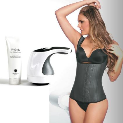 Deluxe Slimming Thermal Anti-Cellulite Holiday Kit (includes: ProBody Slim & Shape Anti-Cellulite Massager System, Slimming Thermal Weight Loss Tank Top,  ProBody Anti-Cellulite Cream)