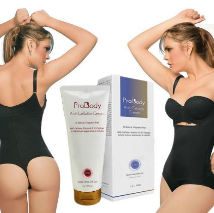 Glamorous Tummy Slimming & Anti-Cellulite Kit (includes: Luxury Braless Body Thermal Garment & ProBody Anti-Cellulite Cream)