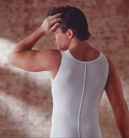 Full Body Men's Cosmetic Surgery Compression Garment  - Mid-Thigh - Stage 2 (Rainey)