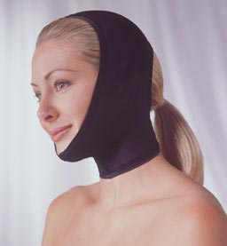 Adjustable Neck & Face Plastic Surgery Compression Garment (Covered Ear) (Rainey)
