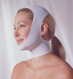 Adjustable Face & Neck Plastic Surgery Compression Garment (Open Ear) (Rainey)