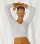 Arm, Back & Shoulder Long Sleeve Plastic Surgery Compression Garment (w/ Implant Stabilizers) (Raine