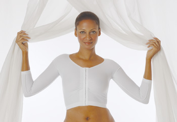 Arm, Back & Shoulder 3/4 Length Sleeve Cosmetic Surgery Compression Garment (Rainey)