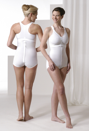 Full Body Brief & Support Breast Augmentation Bra (w/Stabilizers) Garment Kit - Stages 1 & 2 (4 Piec