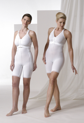 Full Body Plastic Surgery Compression Garment & Bra Kit - Mid Thigh - Stages 1 & 2 (Rainey)