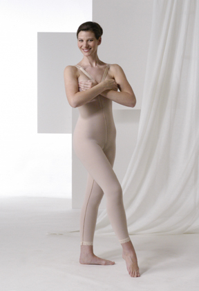 High Back Plastic Surgery Compression Garment - Stage 2- Below The Knee (Rainey)