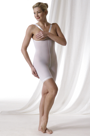 High Back Plastic Surgery Compression Garment- Stage 2- Mid-Thigh (Rainey)