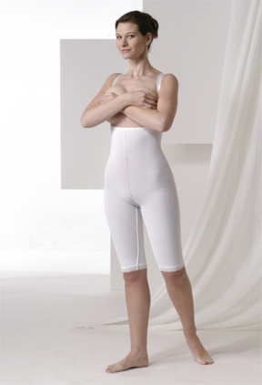 Mid Body Plastic Surgery Compression Garment - Stage 2- Above Knee (Rainey)