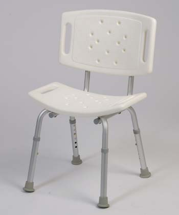Bath Chair (250 lb capacity) With Back