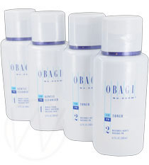 Obagi Nu-Derm Gentle Cleanser (2 units) And Nu-Derm Toner (2 units)