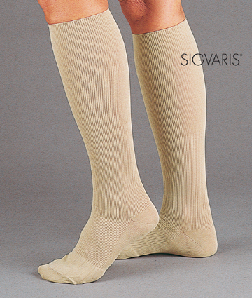 Sigvaris Women's Knee-Hi Compression Classic Dress Socks - 15-20 mmHg
