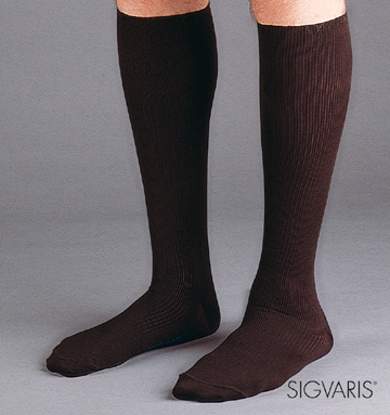 Sigvaris Men's Classic Ribbed Compression Socks - 15-20 mmHg