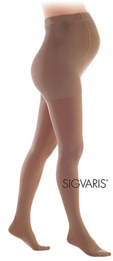 Sigvaris Women's Maternity Comfort Compression Pantyhose (Closed Toe)