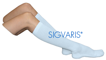 Sigvaris Women's Cushioned Cotton Knee-High Support Socks - 15-20 mmHg (Women)