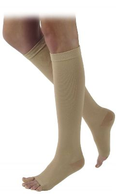 Sigvaris Unisex Calf High Natural Rubber Compression Stockings (Open Toe)