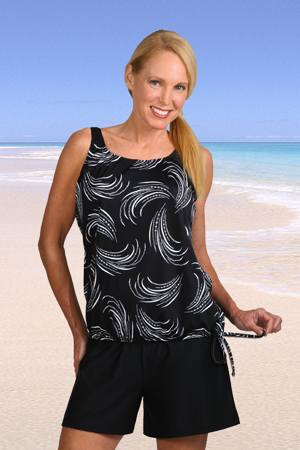 Jodee Black and White Swimsuit Top (Soft Cup)