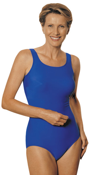 Jodee Pretty Swimsuit (Solid Blue Royal and Solid Black) - Soft Cup