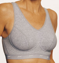 Jodee Cool Cotton Sports Bra - Solid Grey