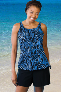 Jodee Midnight Blue Swimsuit Top - Misses (Soft Cup)