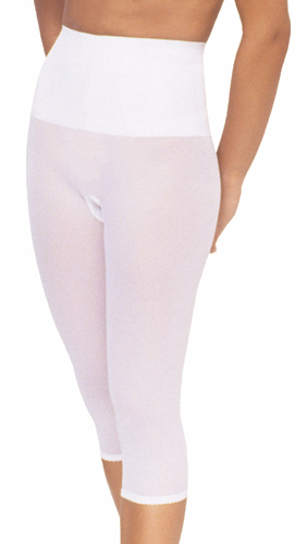 Rago Tummy, Hips & Thighs Shaping Capri Pant Liner (w/ Wide Band)