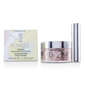Clinique Blended Face Powder + Brush - No. 02 Transparency; Premium price due to scarcity