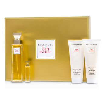 Elizabeth Arden 5th Avenue Coffret: Eau De Parfum Spray 75ml/2.5oz + Body Lotion 100ml/3.3oz + Body Cleanser 100ml/3.3oz + Parfum 3.7ml/0.12oz