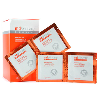 MD Skincare Powerful Sun Protection SPF 30 Sunscreen Packettes