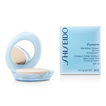 Shiseido Pureness Matifying Compact Oil Free Foundation SPF15 (Case + Refill) - # 30 Natural Ivory