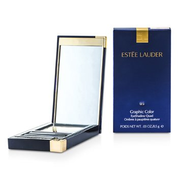 Estee Lauder Graphic Color Eyeshadow Quad - No. 05 Charming Pink
