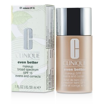 Clinique Even Better Makeup SPF15 (Dry Combination to Combination Oily) - No. 01 Alabaster