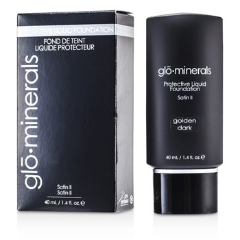 GloMinerals GloProtective Oil Free Liquid Foundation Satin Finish - Golden Dark
