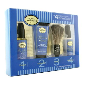 The Art Of Shaving Starter Kit - Lavender: Pre Shave Oil + Shaving Cream + Brush + After Shave Balm