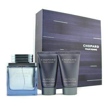 Chopard Pour Homme Coffret: Edt Spray 50ml/1.7oz + Body Wash 50ml/1.7oz + A/S Balm 50ml/1.7oz