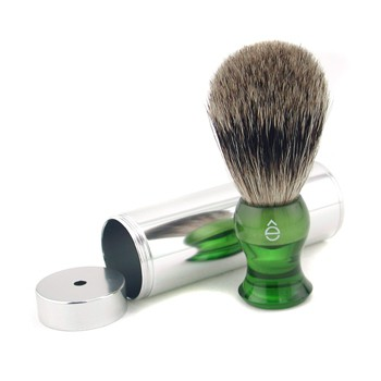 EShave Travel Brush Fine With Canister - Green