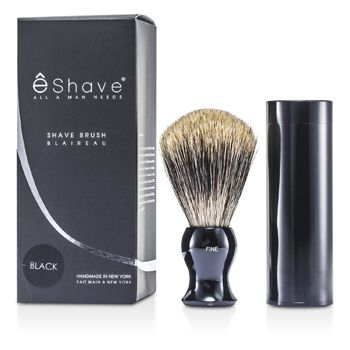 EShave Travel Brush Fine With Canister - Black