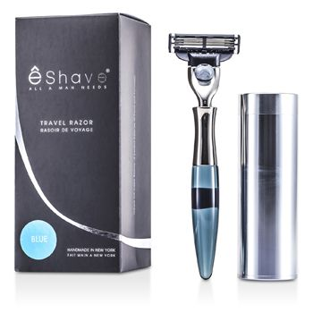 EShave 3 Blade Travel Razor - Blue