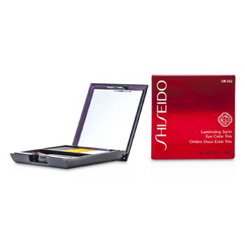 Shiseido Luminizing Satin Eye Color Trio - # OR302 Fire