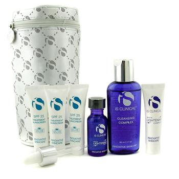 IS Clinical Hyperpigmentation Travel Kit: Cleansing Complex + Lightening Complex + Lightening Serum + Treatment Sunscreen