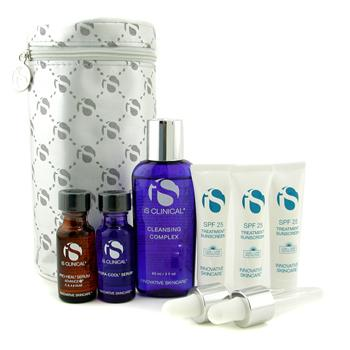 IS Clinical Rosacea Travel Kit: Cleansing Complex + Pro-Heal Serum + Hydra-Cool Serum + Treatment Sunscreen