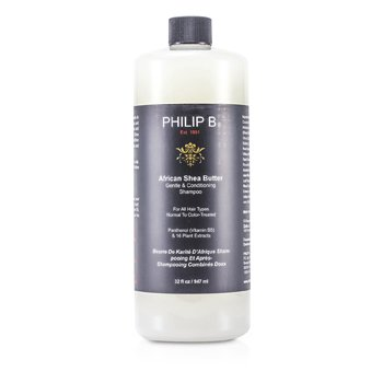 Philip B African Shea Butter Gentle & Conditioning Shampoo (For All Hair Types, Normal to Color-Treated)