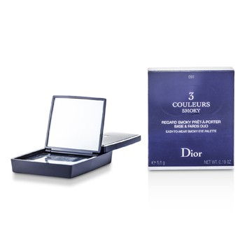 Christian Dior 3 Couleurs Smoky Ready To Wear Eyes Palette - # 091 Smoky Black