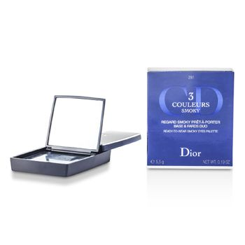 Christian Dior 3 Couleurs Smoky Ready To Wear Eyes Palette - # 291 Smoky Navy