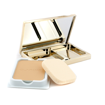 Clarins Hydra Luminous Flawless Powder Foundation SPF 20 (Case + Refill) - # 04 Almond