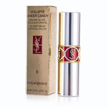Yves Saint Laurent Volupte Sheer Candy Lipstick (Glossy Balm Crystal Color) - # 05 Mouthwatering Berry