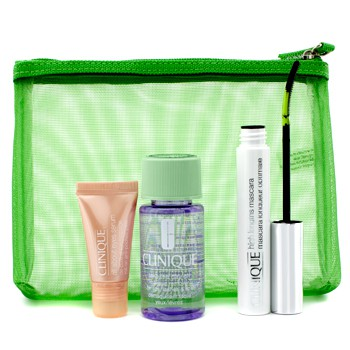 Clinique Lengthen & Define: 1x High Lengths Mascara, 1x All About Eyes Serum, 1x Take The Day Off Makeup Remover, 1x Bag