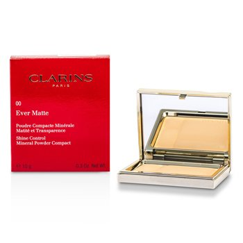 Clarins Ever Matte Shine Control Mineral Powder Compact - # 00 Transparent Opale