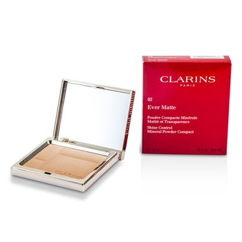 Clarins Ever Matte Shine Control Mineral Powder Compact - # 02 Transparent Medium
