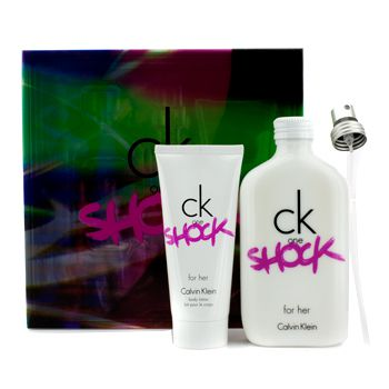 Calvin Klein CK One Shock For Her Coffret: Eau De Toilette Spray 200ml/6.7oz + Body Lotion 100ml/3.4oz